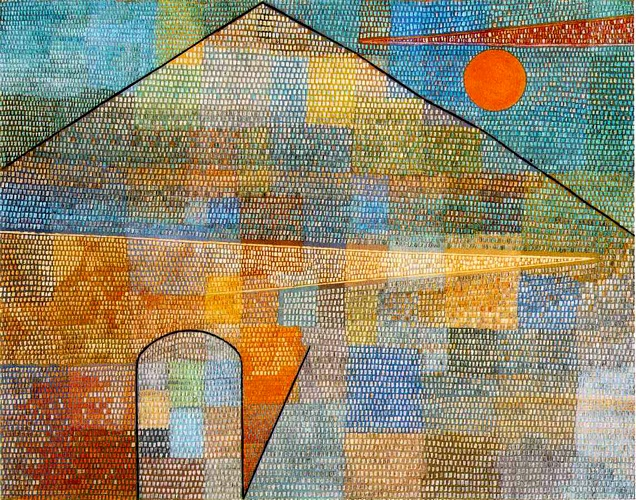 'Ad Parnassum', huile de Paul Klee (1879-1940, Switzerland)