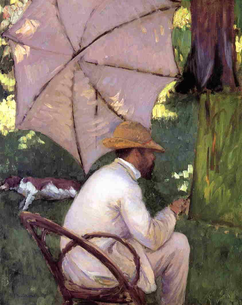 Ca s'est passé en août ! Gustave+Caillebotte+-+The+Painter+under+His+Parasol+