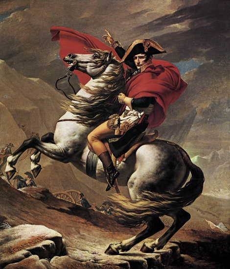 'Napoléon au col du Saint-Bernard', huile de Jacques-Louis David (1748-1825, France)