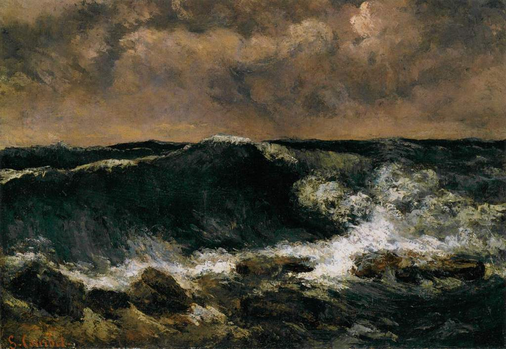 'La Vague', huile de Gustave Courbet (1819-1877, France)