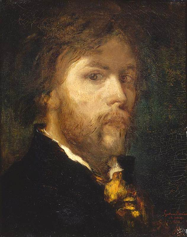 'Self-Portrait', huile de Gustave Moreau (1826-1898, France)