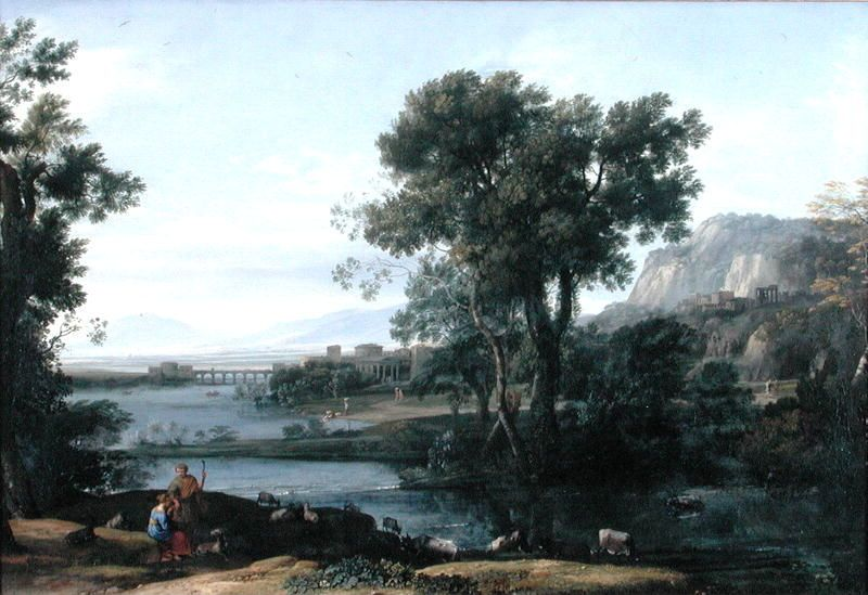 'La montée de l Empire romain', huile de Claude Lorrain (1600-1682, France)