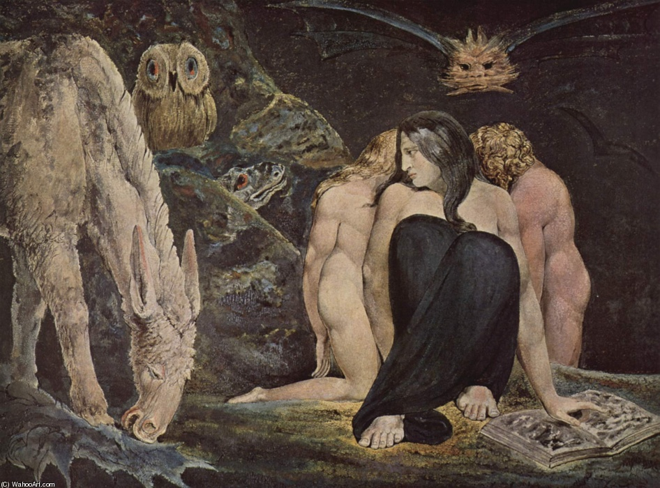 'Hécate', huile de William Blake (1757-1827, United Kingdom)