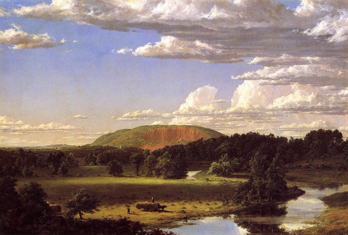 'West Rock, New Haven', huile de Frederic Edwin Church (1826-1900, United States)