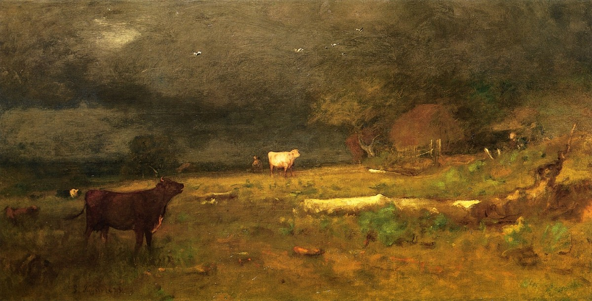 'Le Coming Storm (Tempête approchant aka)', huile de George Inness (1825-1894, United States)