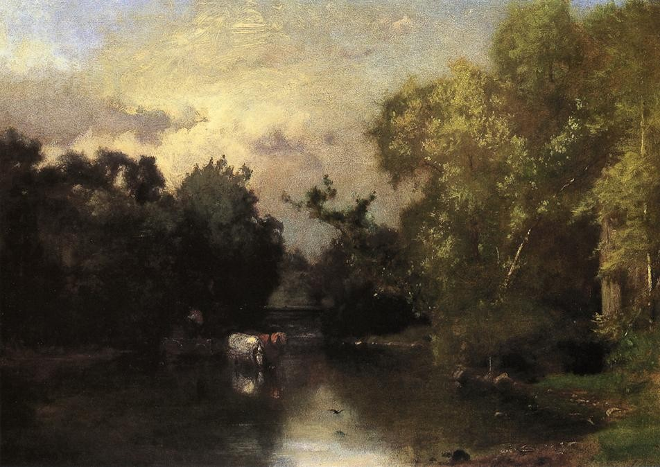 'Le Peqonic, New Jersey', huile de George Inness (1825-1894, United States)