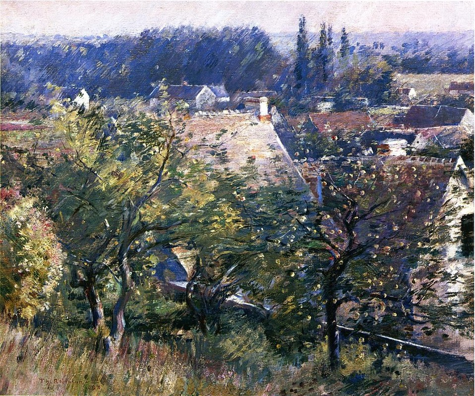'Saint Martin's Summer, Giverny', huile de Theodore Robinson (1852-1896, United States)