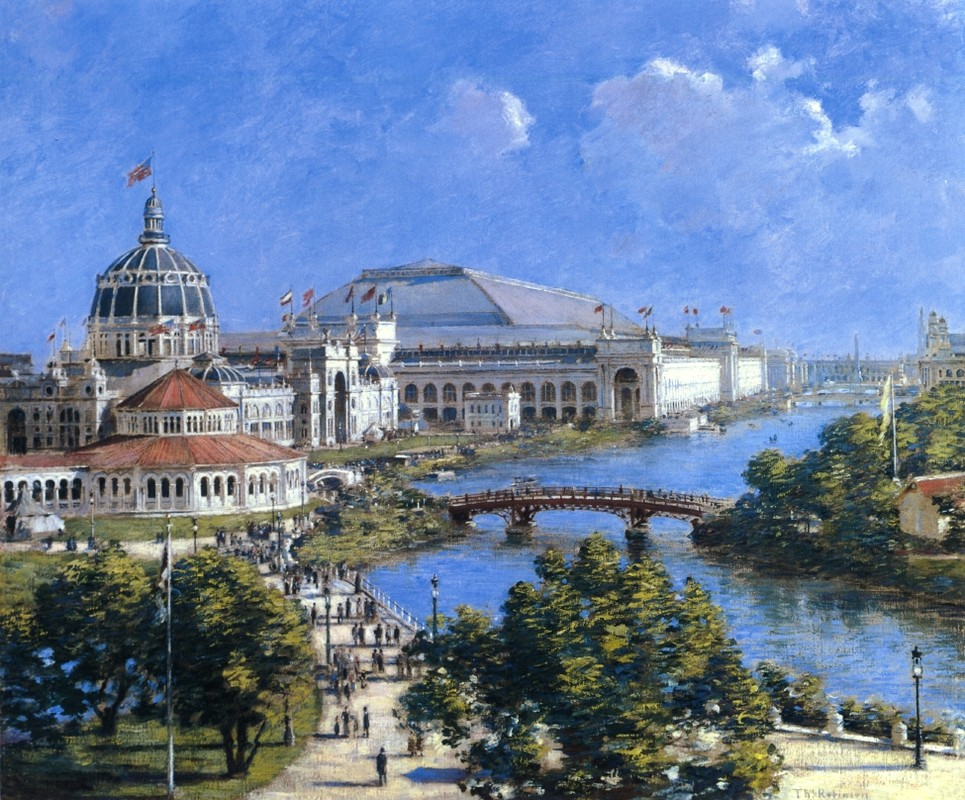 'Columbian Exposition mondiale', huile de Theodore Robinson (1852-1896, United States)