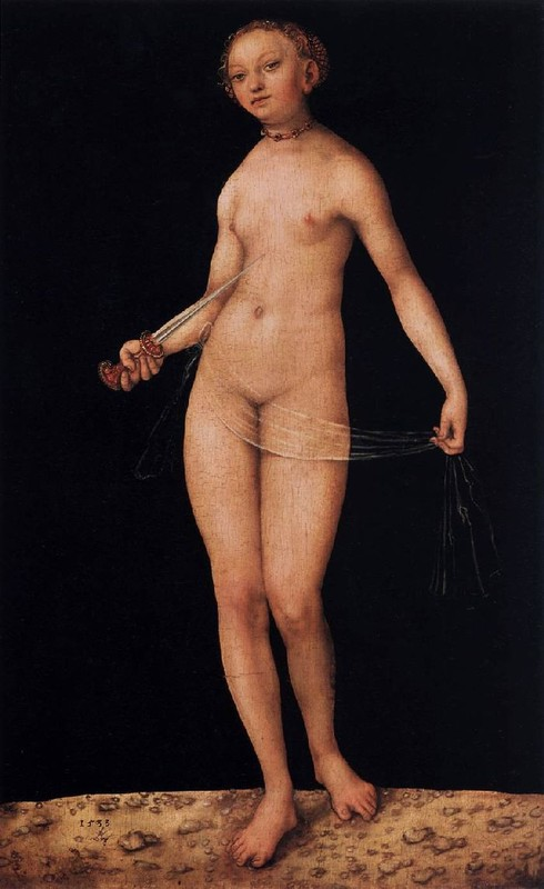 'Lucrèce', huile de Lucas Cranach The Elder (1472-1553, Germany)