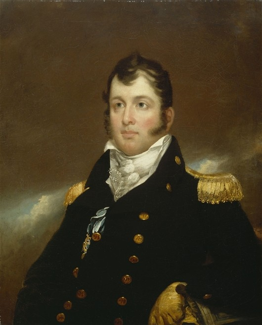 'Commodore Oliver Hazard Perry', huile de John Wesley Jarvis (1781-1839, England)