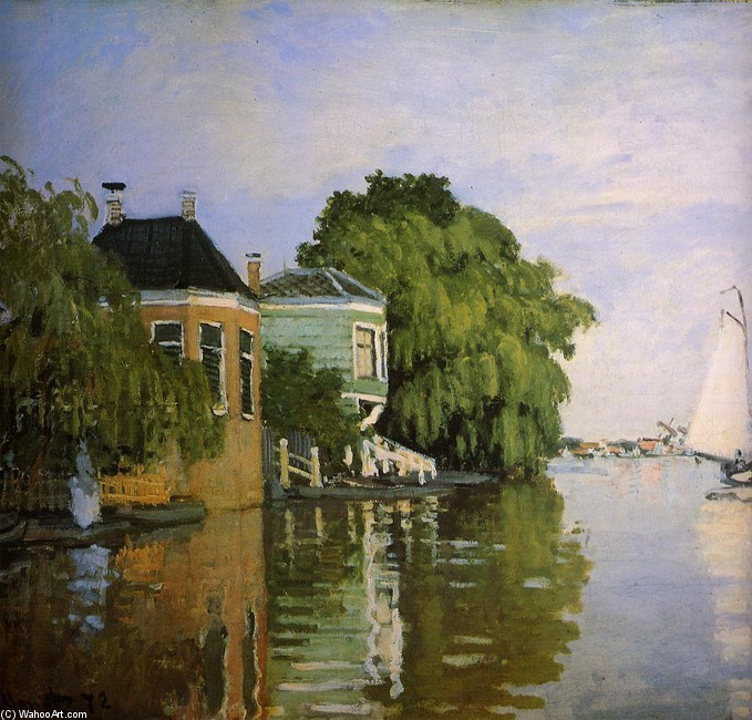 'Zaandam 1', huile de Claude Monet (1840-1926, France)