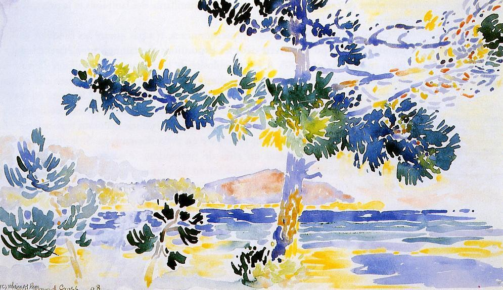 'Saint-Clair Paysage' de Henri Edmond Cross (1856-1910, France)