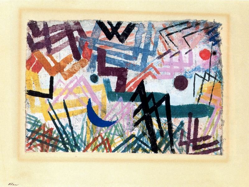 'Interaction des forces dans un paysage Riber Lech' de Paul Klee (1879-1940, Switzerland)