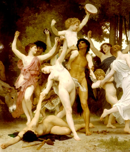 'La jeunesse de Bacchus centre dt', Huile de William Adolphe Bouguereau (1825-1905, France)