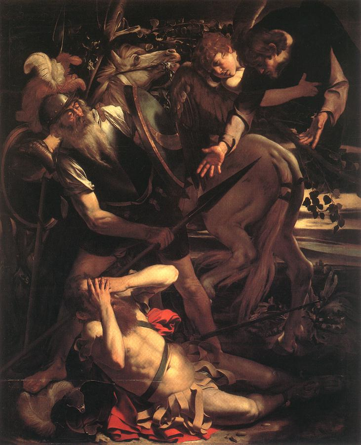 Caravaggio - Michelangelo Merisi - La Conversion de saint Paul