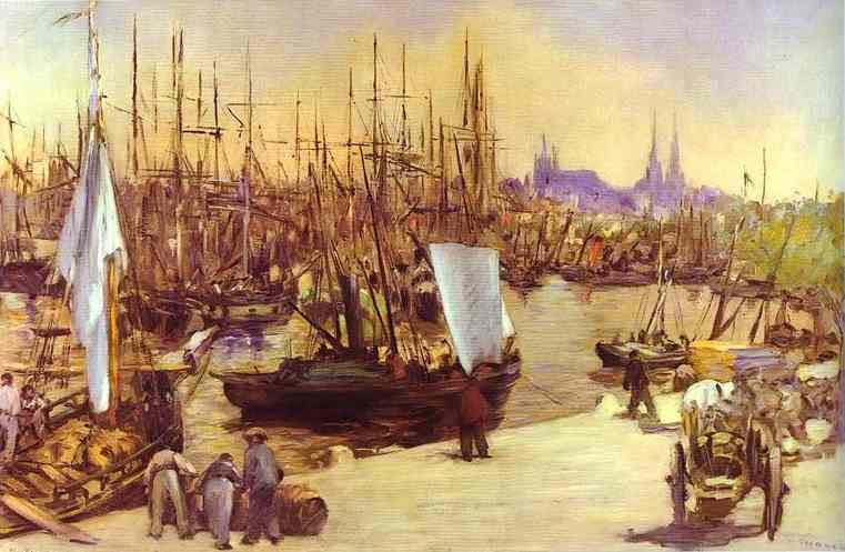 Le Port de Bordeaux (Edouard Manet)