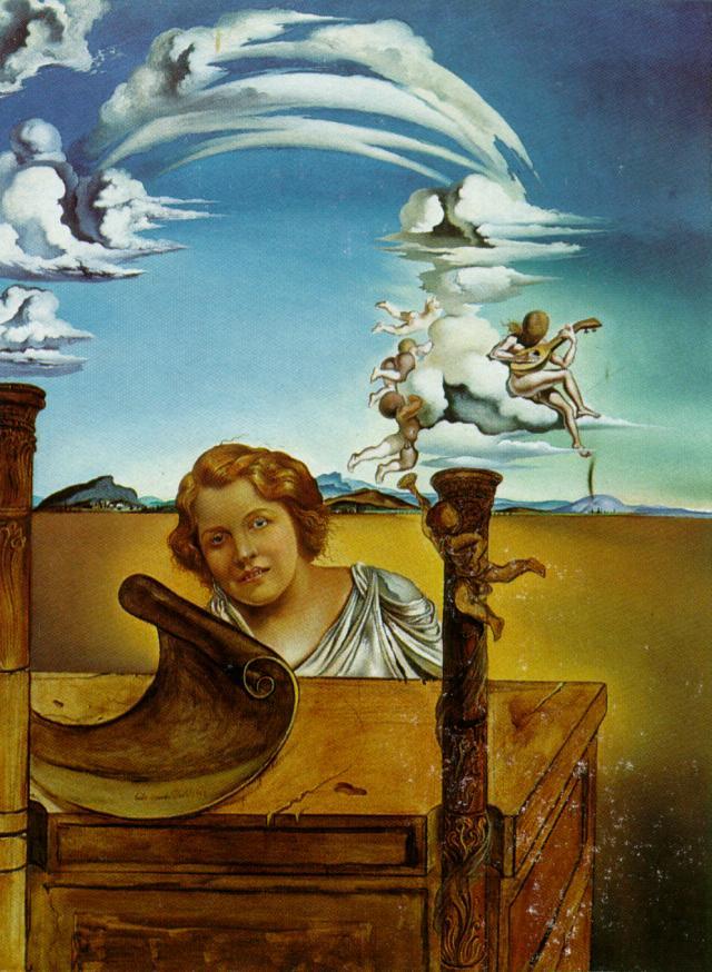 Salvador Dali >> Mélancolie, 1942   (huile, reproduction ...