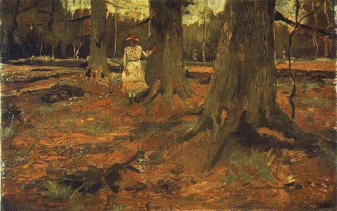 Girl in White in the Woods (Vincent Van Gogh)