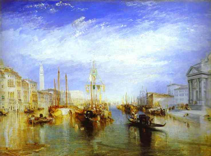 William Turner >> Le Grand Canal, Venise  |  (huile, reproduction, copie, tableau, oeuvre, peinture).