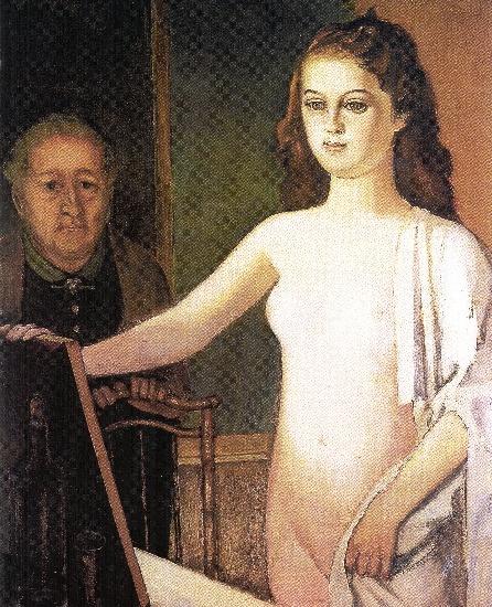 Jeune fille au miroir 1948 de balthus 1908 2001 for Fille au miroir