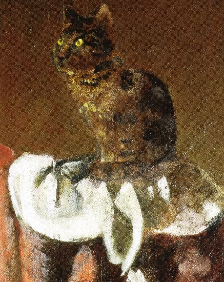 Le chat au miroir iii d tail 1989 94 de balthus for Balthus alice dans le miroir
