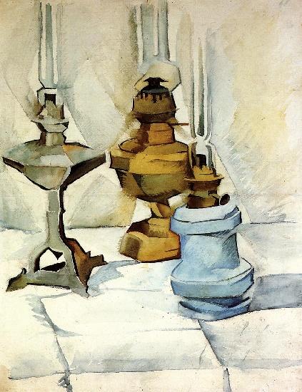Juan Gris >> Trois lampes (1910)
