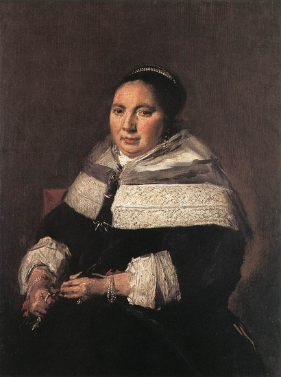 Portrait d un Woman2 Assis (Frans Hals)