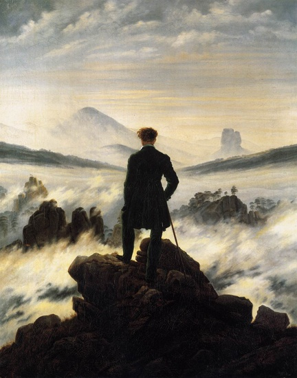 The Wanderer-dessus des brumes (Caspar David Friedrich)