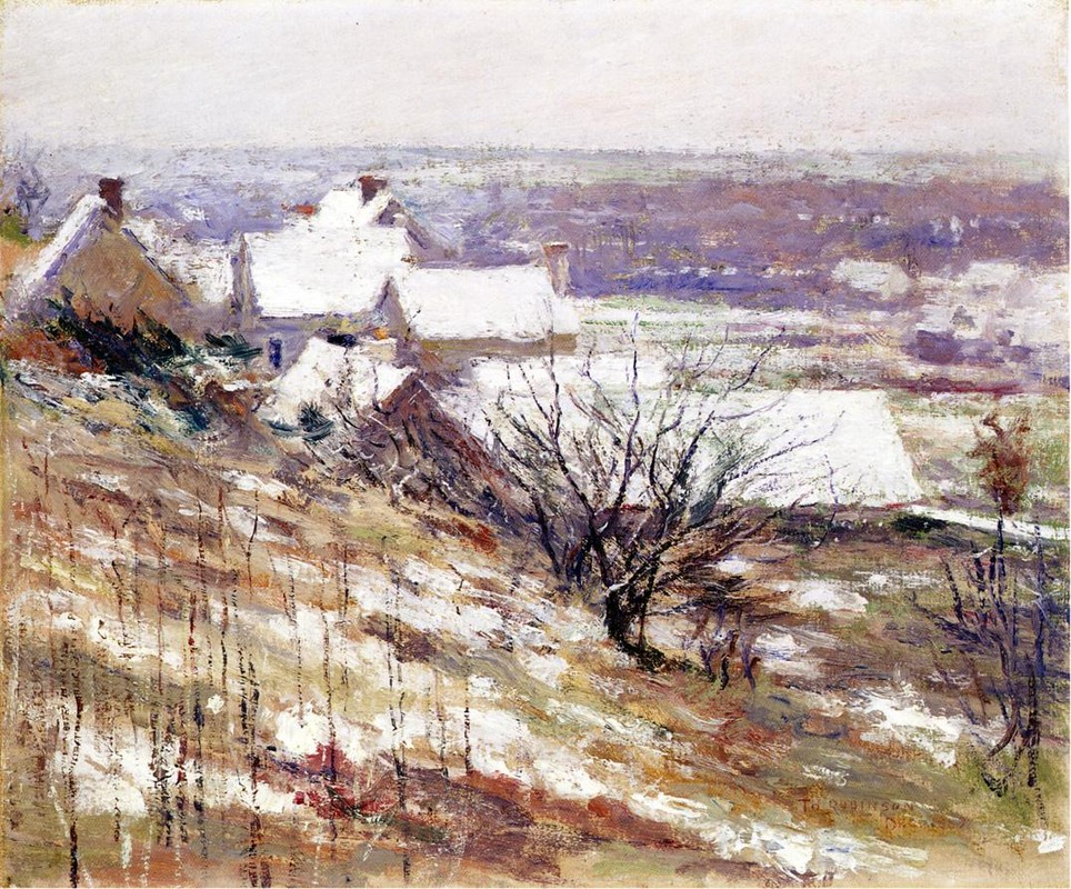 Theodore Robinson >> paysage d'hiver  |  (huile, reproduction, copie, tableau, oeuvre, peinture).