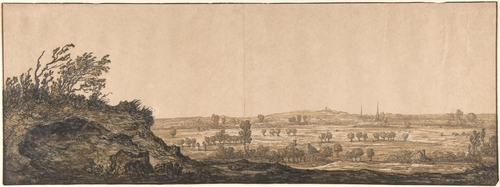 Aelbert Cuyp >> View of Calcar on the Lower Rhine near Cleves  |  (huile, reproduction, copie, tableau, oeuvre, peinture).