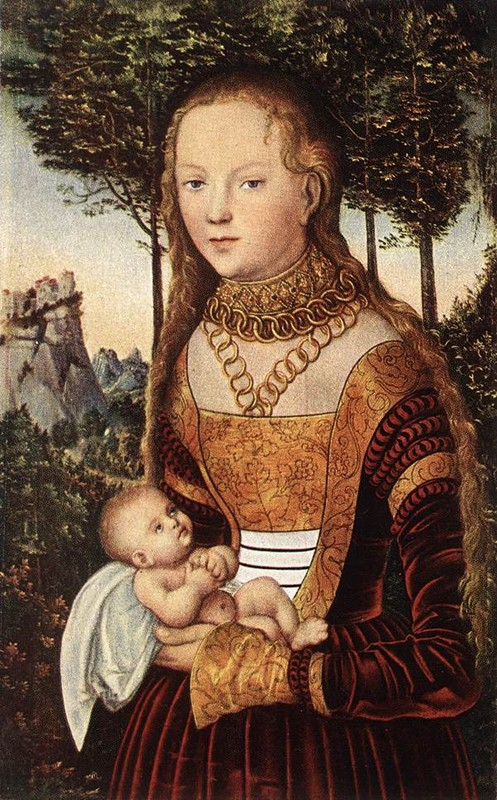 Young Mother with Child (Lucas Cranach the Elder)
