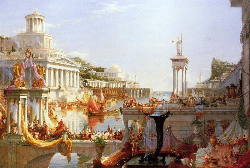 Le cours de l Empire, la Plénitude (Thomas Cole)
