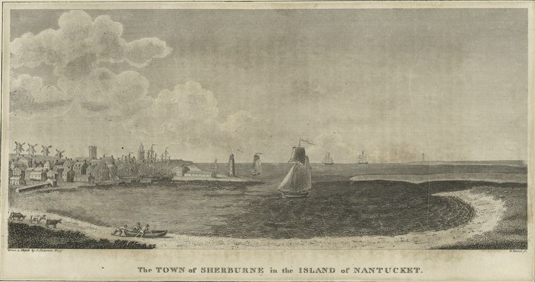 Benjamin Tanner >> The Town of Sherburne in the Island of Nantucket 1  |  (huile, reproduction, copie, tableau, oeuvre, peinture).