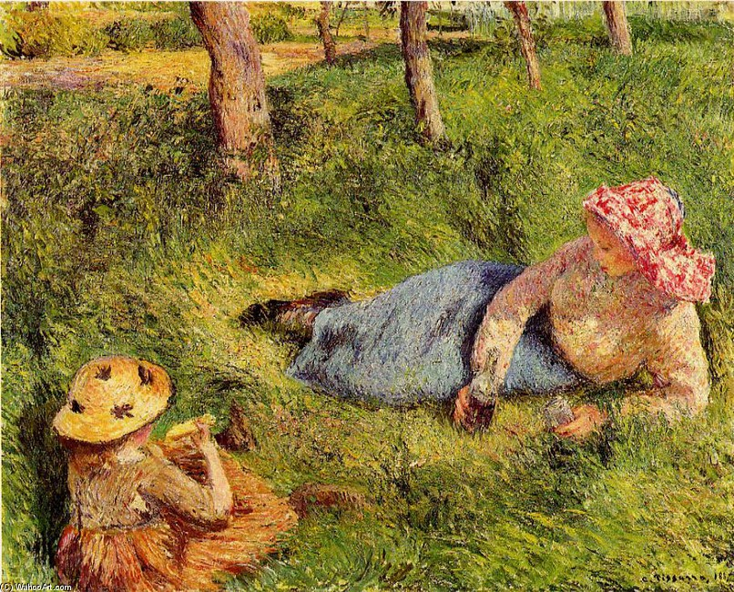 Camille pissarro the snack child and young peasant at for Camille pissarro oeuvre