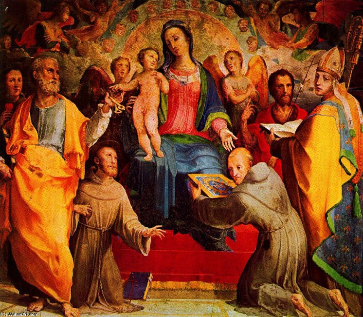 Madonna and Child Enthroned with Six Saints and Angels (Domenico Beccafumi)