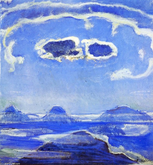 Eiger, Monch and Jungfrau in Moonlight (Ferdinand Hodler)