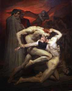 William Adolphe Bouguereau - Dante et Virgile aux Enfers