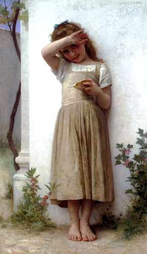 En pénitence, huile de William Adolphe Bouguereau (1825-1905, France)