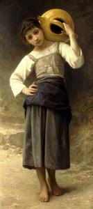 William Adolphe Bouguereau - Une fille de la fontaine