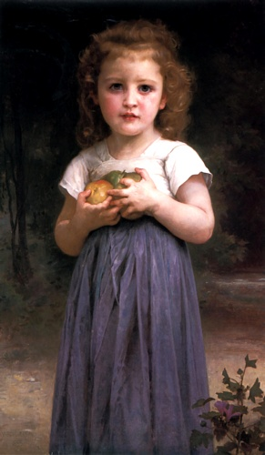 Maiden et enfants, Huile de William Adolphe Bouguereau (1825-1905, France)