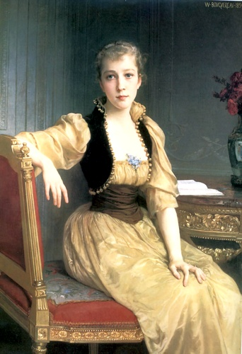 Lady Maxwell 1890 129.2x89.2cm, huile de William Adolphe Bouguereau (1825-1905, France)