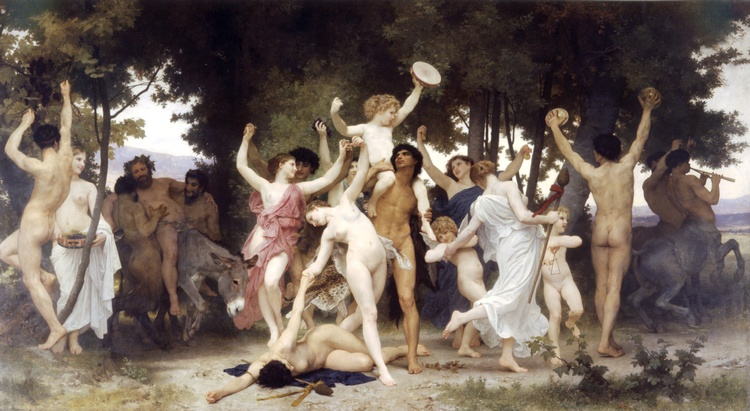 Jeunesse de Bacchus de William Adolphe Bouguereau (1825-1905, France) | Copie Tableau | WahooArt.com