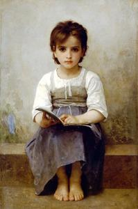 William Adolphe Bouguereau - La dure leçon