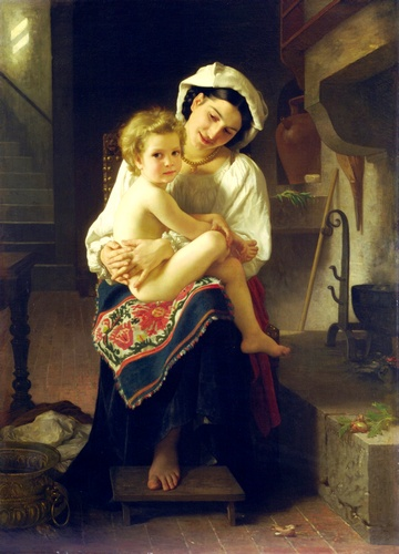 Le levier, huile de William Adolphe Bouguereau (1825-1905, France)