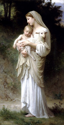 Linnocence, huile de William Adolphe Bouguereau (1825-1905, France)