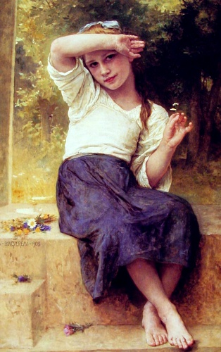 Marguerite, huile de William Adolphe Bouguereau (1825-1905, France)