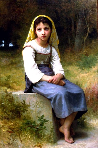 NB Méditation 1885, huile de William Adolphe Bouguereau (1825-1905, France)