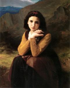 William Adolphe Bouguereau - Mignon songeur