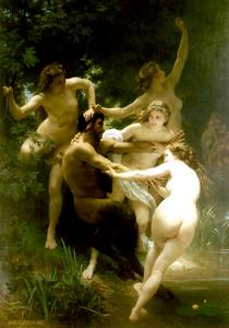 William Adolphe Bouguereau - Nymphes et satyre