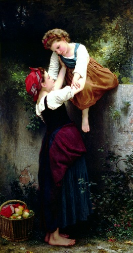 Petit maraude, huile de William Adolphe Bouguereau (1825-1905, France)